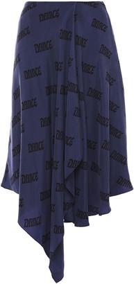 Acne Studios Ilsa Asymmetric Printed Washed-cupro Skirt