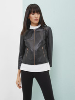 Ted Baker Collarless leather jacket