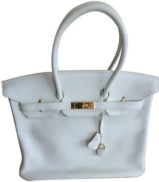 Hermã ̈S HermAs Birkin 35 White Leather Handbags