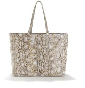 La Redoute Collections Leather Reversible Shopper with Snakeskin Effect