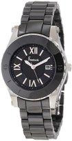 Freelook Women's HA5114-1 All Black Ceramic Black Dial Watch