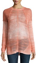 Haute Hippie Dyed-Mesh Long-Sleeve Sweater, Tie Dye