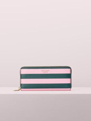 Kate Spade Sylvia Stripe Slim Continental Wallet
