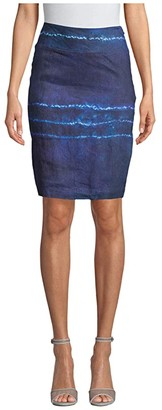Nicole Miller Shibori Stripe Pencil Skirt (Shibori Stripe) Women's Skirt