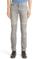 Belstaff Men's Ringwood Washed Denim Moto Jeans