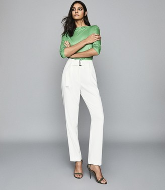 Reiss Marilyn - Straight Neck Top in Green
