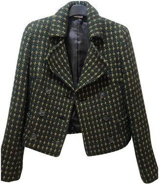 Miu Miu Green Wool Jacket for Women Vintage