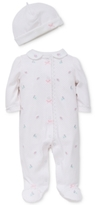 Little Me 2-Pc. Fancy Flowers Hat & Footed Coverall Set, Baby Girls (0-24 months)
