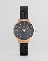 Olivia Burton Black Hackney Watch