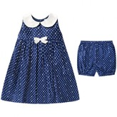 Rachel Riley Rachel RileyBaby Girls Navy Spotted Dress With Bloomers