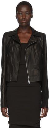 Rick Owens Black Leather Stooges Jacket