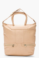 See by Chloe Nude Leather Zip Tote