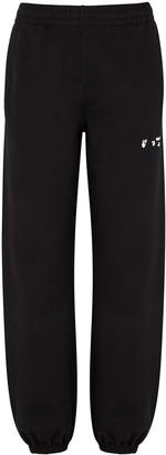 Off-White Black Logo Cotton Sweatpants