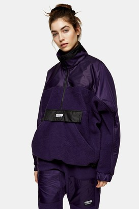 adidas Womens Purple High Neck Top By Purple