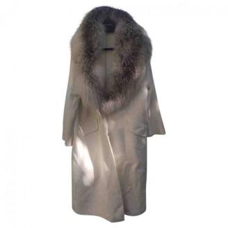 Ermanno Scervino White Fur Coat for Women