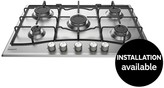 Hotpoint PCN752UIXH 75cm Built-In Gas Hob With Optional Installation - Stainless Steel