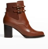 Thumbnail for your product : Valentino Garavani 70mm Rockstud Chelsea Booties