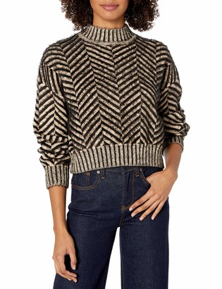 C/Meo Women's Stuck on You Herringbone Knit Sweater