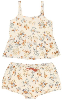 Caramel Piccadilly floral top and pants set