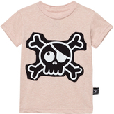 Nununu Powder Pink Skull Patch T-shirt