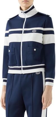 Gucci Stripe Pique Track Jacket