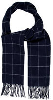 Jack Spade Linder Windowpane Wool Scarf w/ Tags