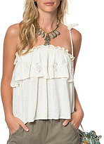 O'Neill Misti Strapless Embroidered Flounce Top