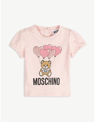Moschino Cotton bear applique T-shirt 3-36 months
