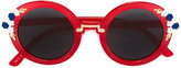 MonnaLisa floral detail sunglasses - kids - Acrylic - One Size