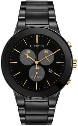 Citizen Men's 43mm Chronograph Watch w/ Bracelet Strap, Black
