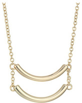 French Connection Double Curved Tube Pendant Necklace