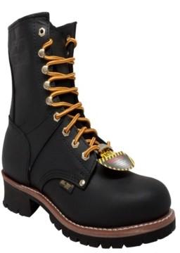 """AdTec Men's 9"""" Steel Toe Logger Boot Men's Shoes"""