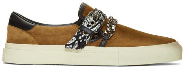 Amiri Brown Suede Bandana Sneakers