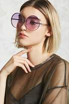 Forever 21 Rimless Ombre Round Sunglasses