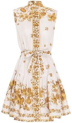 Zimmermann Amelie Mini Sleeveless Paisley Dress