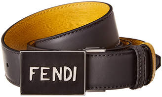 Fendi Reversible & Adjustable Leather Belt