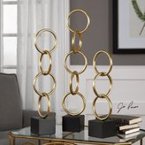 Uttermost Chane Gold Sculpture S/2