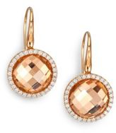 Roberto Coin Cocktail Rock Crystal, Diamond & 18K Rose Gold Drop Earrings