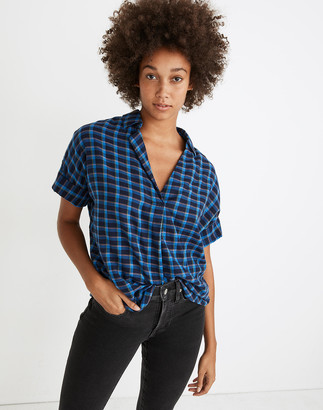 Madewell Double-Faced Park Popover Shirt in Plaid