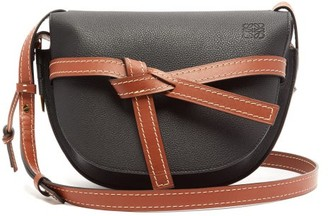 Loewe Gate Small Grained-leather Cross-body Bag - Womens - Black Brown