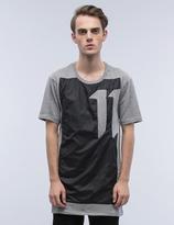 11 By Boris Bidjan Saberi 11 Block Graphic Asymmetrical S/S T-Shirt