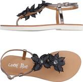 Coral Blue Toe strap sandals - Item 11145715