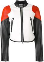 Givenchy colour-block biker jacket