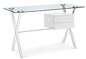 Modway Stasis Glass Top Office Desk