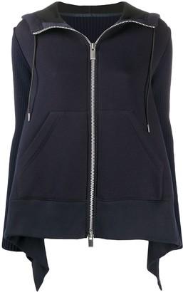 Sacai Knitted-Panel Wool Jacket
