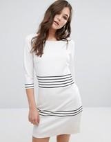 Vila Striped 3/4 Sleeve Dress