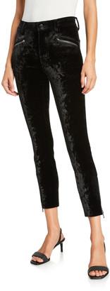 J Brand Kenna Velvet Moto Skinny Pants