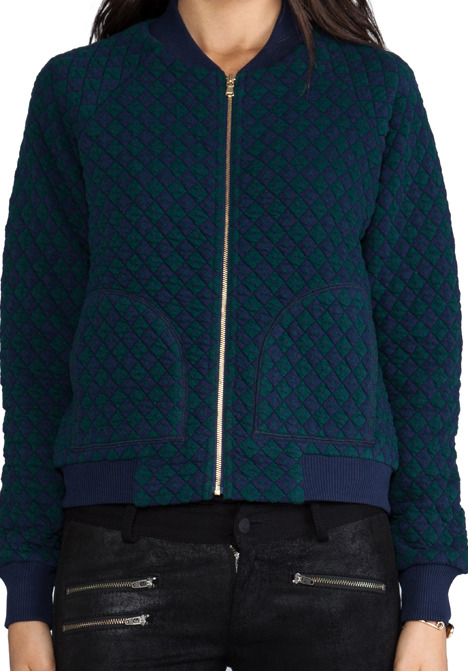 Marc by Marc Jacobs Quilty Argyle Bomber Jacket