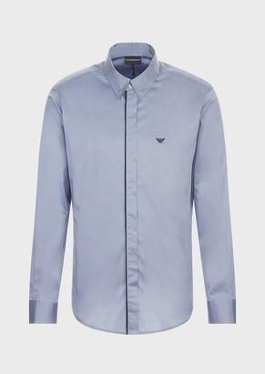 Emporio Armani Satin Shirt With Detachable Collar