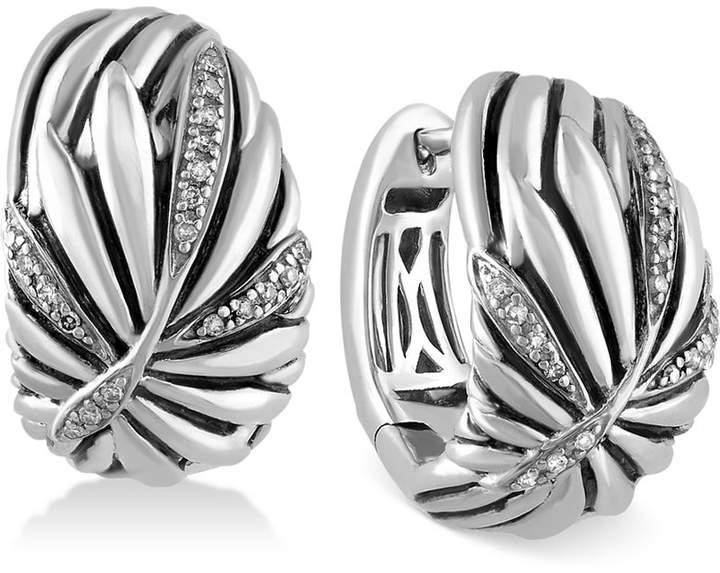Effy Balissima Diamond Drop Earrings (1/6 ct. t.w.) in Sterling Silver